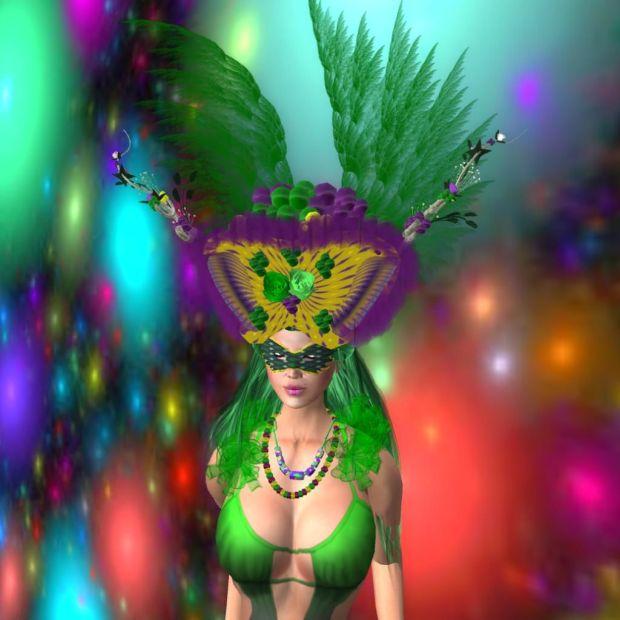 Mardi Gras, the nut headpiece