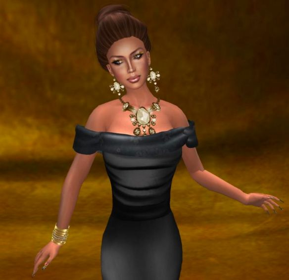 Dulce Secret Skin, Dragon Lady Closet gown, Finesmith jewlery, Katink backdrop & Morgane pose