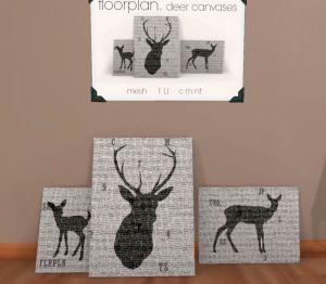 floorplan Deer art:home decor