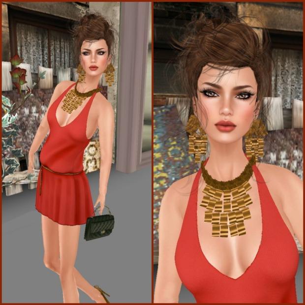 Drift China Red & A&Ana jewelry set