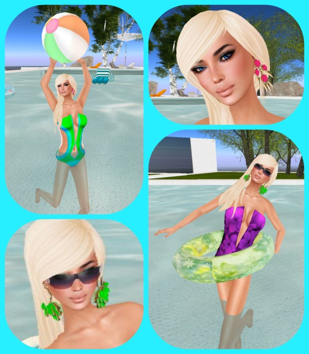 Modern Couture Summer Hunt, 4 square Blue
