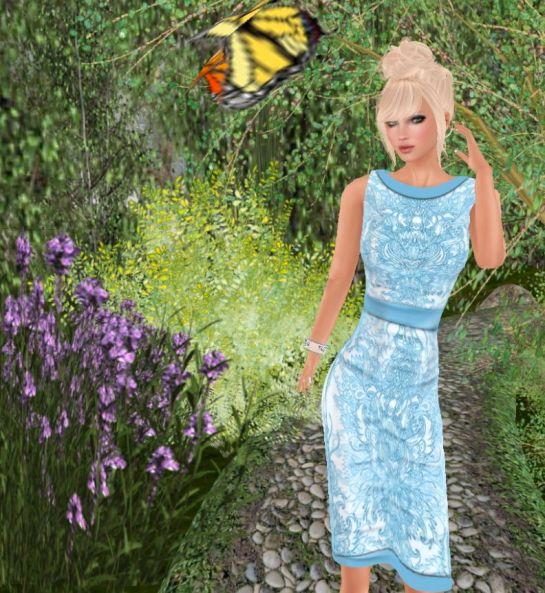 Glow Design, Placid Blue Pencil Dress