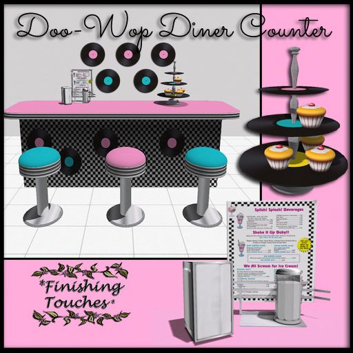 _FT_ Doo-Wop Diner Counter & Wall Decals