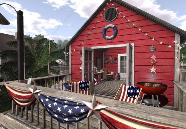Americana Beach Hut
