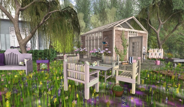 Finishing Touches For the Birds Garden Set & TMS Greenhouse