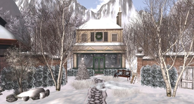 winter-landscape-village-shop